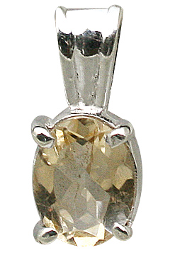 Design 11414: white,yellow citrine pendants