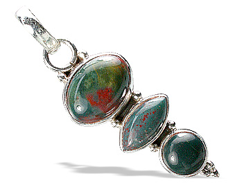 Design 11469: green,red bloodstone pendants