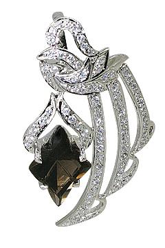Design 11554: Brown, White smoky quartz pendants