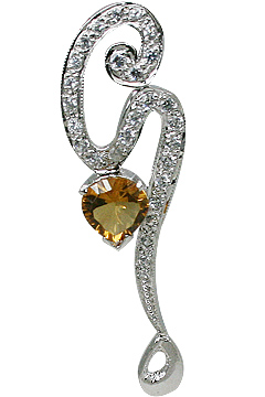 Design 11557: Yellow, White citrine pendants