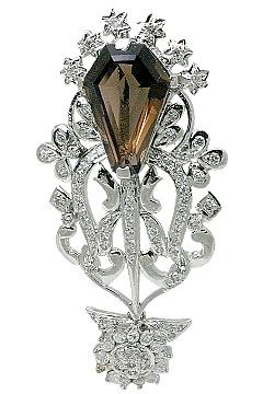 Design 11558: Brown, White smoky quartz pendants