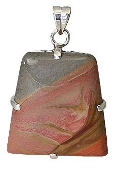 Design 11590: Brown, Gray jasper pendants