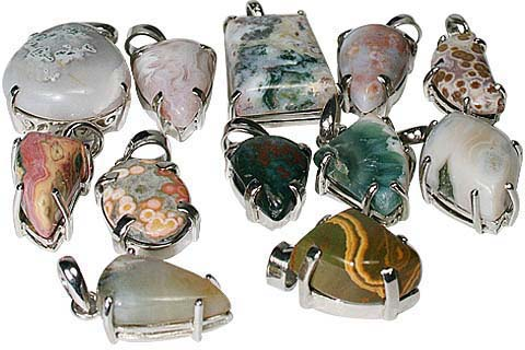 Design 11592: multi-color bulk lots pendants