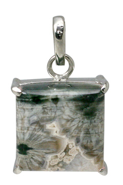 Design 11607: gray,white jasper pendants