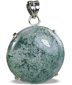 Design 11611: green moss agate pendants