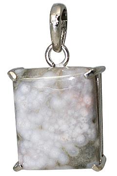 Design 11618: gray,white jasper pendants