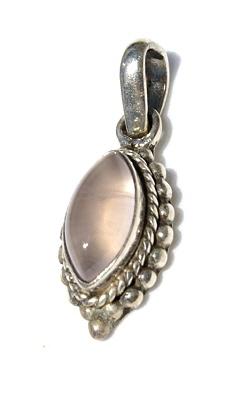 Design 11627: pink rose quartz pendants