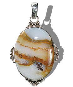 Design 11957: Brown, White agate american-southwest, ethnic pendants