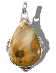 Design 11958: Brown, White agate american-southwest, drop, ethnic pendants