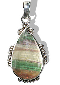Design 11967: green,yellow fluorite american-southwest pendants