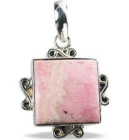 Design 11973: pink rhodocrosite american-southwest, ethnic pendants