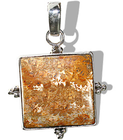 Design 11981: brown jasper pendants