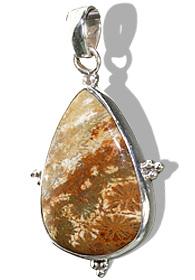 Design 11983: brown jasper american-southwest, drop, ethnic pendants