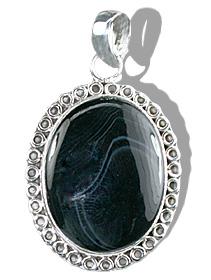 Design 11997: black onyx american-southwest pendants