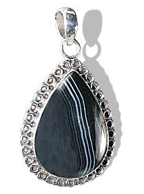 Design 12002: black onyx american-southwest pendants