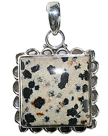 Design 12004: black dalmatian jasper american-southwest, ethnic pendants