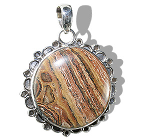 Design 12010: brown jasper american-southwest, ethnic pendants