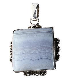 Design 12017: blue agate american-southwest, ethnic pendants