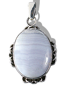 Design 12020: blue agate american-southwest pendants