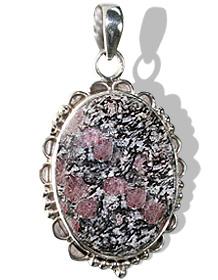 Design 12033: black,gray,pink zosite american-southwest pendants