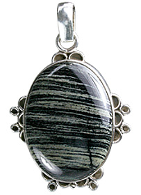 Design 12039: Black,Gray jasper american-southwest, ethnic pendants