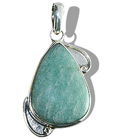 Design 12045: green amazonite american-southwest pendants