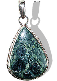Design 12067: black,green,gray jasper american-southwest, ethnic pendants