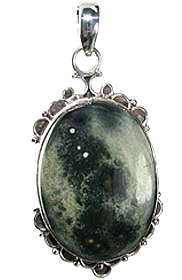Design 12076: black,gray jasper american-southwest pendants