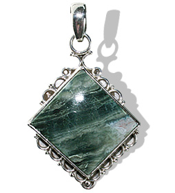 Design 12079: black,gray jasper american-southwest, ethnic pendants