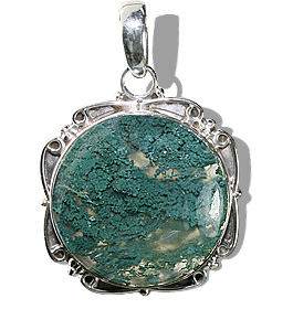 Design 12083: green moss agate american-southwest, ethnic pendants