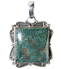 Design 12087: green moss agate american-southwest, ethnic pendants