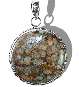 Design 12090: brown,yellow opal american-southwest, ethnic pendants