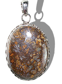 Design 12093: brown opal american-southwest pendants