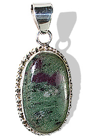 Design 12096: black,green,red zosite american-southwest pendants