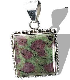 Design 12099: green,pink zosite american-southwest pendants