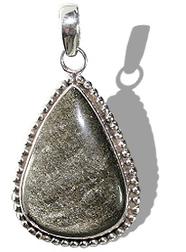 Design 12105: brown,gray obsidian american-southwest, ethnic pendants