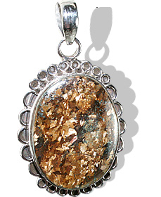 Design 12122: brown bronzite american-southwest, ethnic pendants