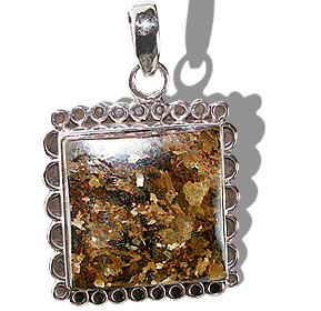 Design 12125: brown bronzite american-southwest, ethnic pendants