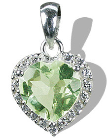 Design 12159: green,white green amethyst brides-maids pendants