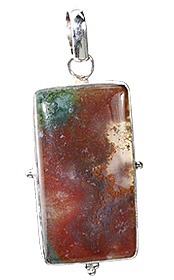 Design 12165: Green, Red bloodstone ethnic pendants