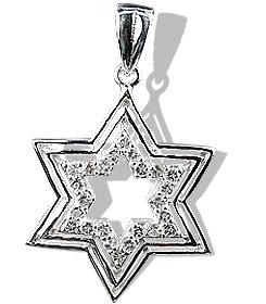 Design 12235: white white topaz religious pendants