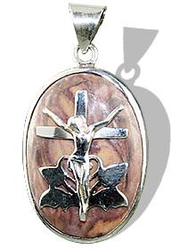 Design 12263: brown jasper cross, religious pendants