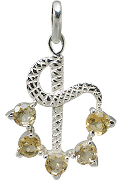 Design 12307: yellow citrine pendants