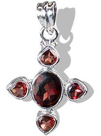Design 12333: red garnet cross pendants