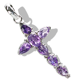 Design 12342: purple amethyst cross pendants