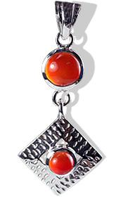Design 12391: orange carnelian pendants