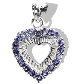 Design 12400: blue iolite heart pendants