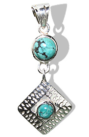 Design 12406: blue turquoise american-southwest pendants