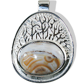 Design 12429: brown,white jasper american-southwest pendants