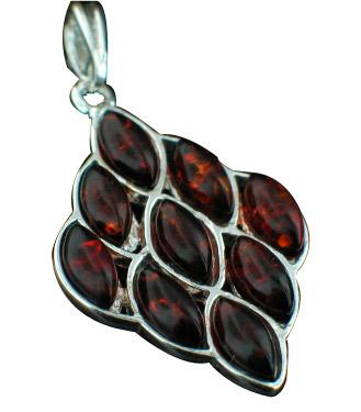 Design 12476: orange amber pendants